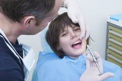Visita dental Imagens de Stock