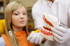 Visita dental fotografia de stock