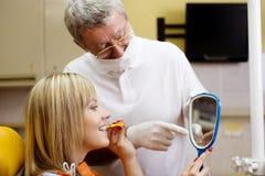 Visita dental Foto de Stock