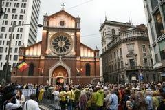Visita di papa Francis in Romania fotografia stock