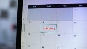 Visita di pianificazione della donna al ginecologo, facente nota in diario online, salute femminile archivi video