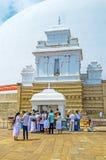 Visita di Stupa grande Fotografia Stock Libera da Diritti