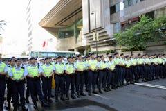 A visita do líder chinês acende protestos em H.K. Foto de Stock Royalty Free