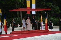 Visita do Papa Francisco a Rom?nia fotos de stock royalty free
