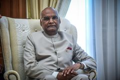 Visita do presidente Ram Nath Kovind do ` s da Índia em Grécia Imagem de Stock