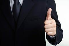 Visita do sucesso da mão do homem de negócio boa isolada Fotos de Stock Royalty Free