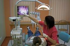 Visita en el dentista Imagen de archivo libre de regalías