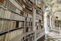 Visita a la abadía de Admont en Estiria Imagenes de archivo