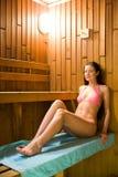 Visita a la sauna fotos de archivo