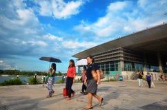 Visita Marina Barrage dos povos fotografia de stock royalty free
