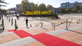 Visita oficial de la alfombra roja