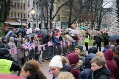 Visita oficial do duque de Cambridge em Finlandia Imagens de Stock
