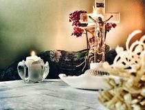 Visita pastorale Fotografia Stock