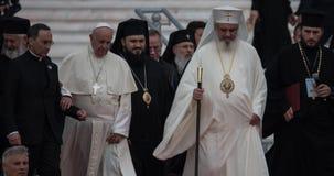 Visita Rom?nia de Papa Francisc foto de stock royalty free