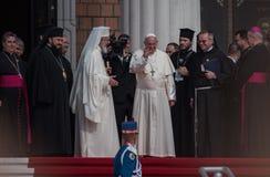 Visita Romania di Papa Francisc fotografia stock libera da diritti