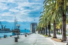Visita Trogir, Croacia Imagenes de archivo