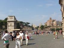 Visitando Roma Fotos de Stock