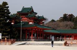 Visitando um templo Fotografia de Stock