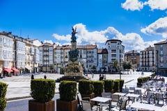Visitando in Vitoria Spagna immagini stock