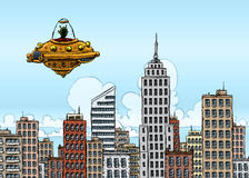Visitante do UFO Foto de Stock Royalty Free
