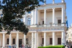 Visitantes cerca de Palazzo Chiericati en la ciudad de Vicenza Imagen de archivo libre de regalías