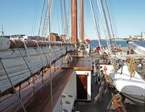Visitantes de la nave del español Imagenes de archivo