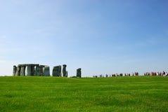 Visitantes de Stonehenge imagem de stock