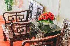 Visitantes desejados de madeira da cadeira da mobília do estilo chinês Imagens de Stock Royalty Free