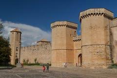 Visitantes do Poblet fortificado imagem de stock royalty free