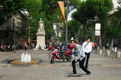 Visitantes em Aix-en-Provence França Foto de Stock