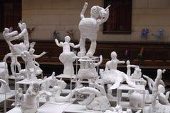 VISITANTES EN EL ARTE EXHIBTIONS Foto de archivo libre de regalías