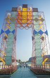 Visitantes à exposição dos Olympics no parque da exposição, Los Angeles, Califórnia Fotografia de Stock Royalty Free