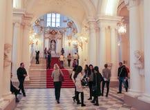 Visitantes perto de Jordan Staircase foto de stock