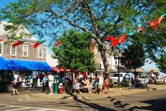 Visitantes a Provincetown foto de stock