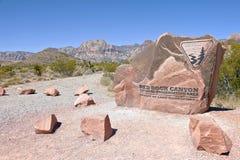 Visitar el barranco rojo Nevada de la roca. Imagenes de archivo