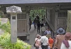 Visitar el templo Imagen de archivo libre de regalías