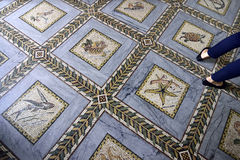 Visitation Church mosaic floor, Jerusalem Royalty Free Stock Photo