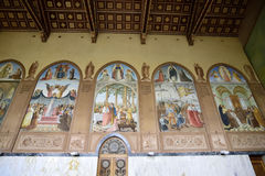 Visitation Church paintings, Jerusalem Stock Images