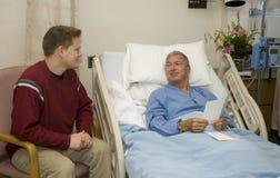 Visitation de hospital fotografía de archivo