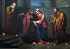 Visitation de la Virgen María Fotos de archivo
