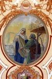 Visitation de la Virgen María bendecida Foto de archivo