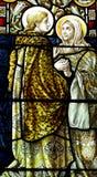 Visitation in gebrandschilderd glas royalty-vrije stock afbeelding