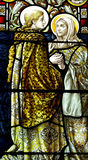 The visitation in stained glass. A photo of The visitation in stained glass Royalty Free Stock Image