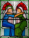 The visitation in stained glass. A photo of The visitation ins stained glass Stock Images