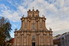 Visitationist Church  (1761) in Warsaw, Poland Royalty Free Stock Images
