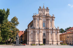 Visitationist Church in Warsaw, Poland Stock Photography
