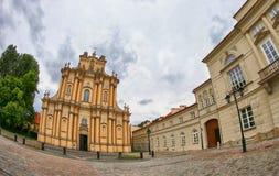 Visitationists的圣约瑟夫教会在华沙,波兰 图库摄影