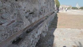 Visite as ruínas do teatro grego video estoque