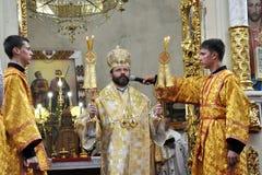 Visite au _14 de Sviatoslav Shevchuk d'église de chapitre de Chortkiv Photos libres de droits