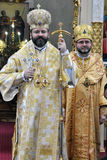Visite au _20 de Sviatoslav Shevchuk d'église de chapitre de Chortkiv Photos stock